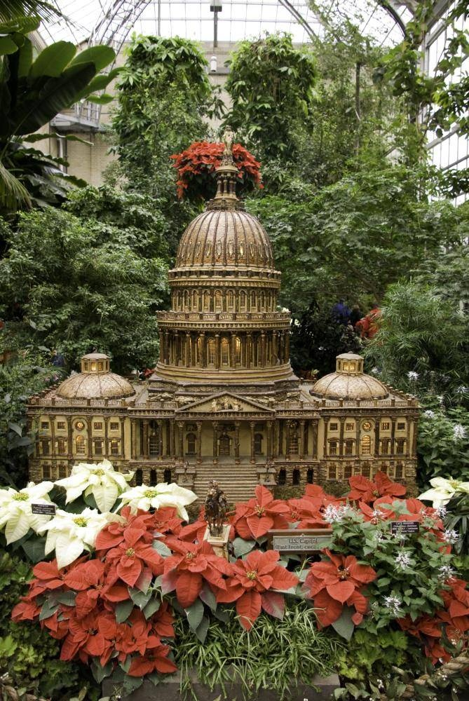 See The Magical Christmas Display At The U.S. Botanic Garden | Washington Dc,  Gardens And Buckets
