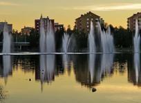 Vaihteeksi helteisen kesäillan valoa, Oulu 10.7 2014 klo 23:03