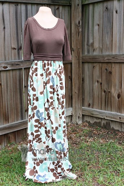 Turn a tee and some knit fabric into a dress! Looks relatively simple and would be a great way to repurpose too-short shirts!
