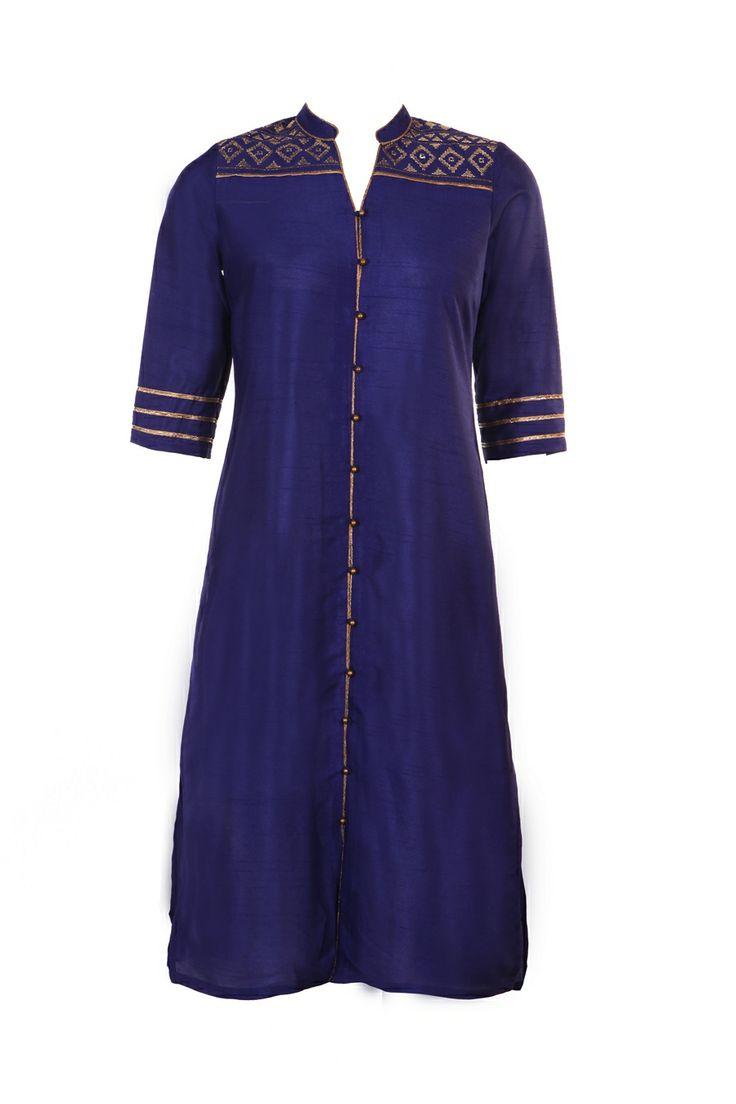 Indian tunic top salwar blue