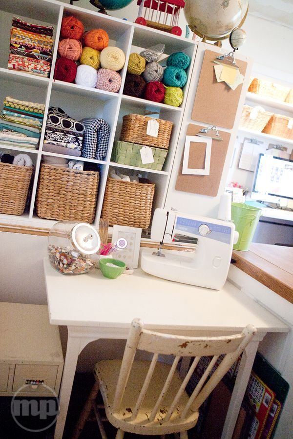 craft room - sewing area