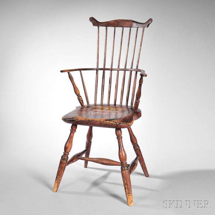 Painted Windsor Fan Back Armchair, New England, Late 18th Century. | Lot.  Shaker StyleEarly AmericanRocking ...