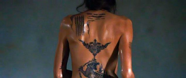 angelina jolie tattoos in wanted movie - Google Search ...