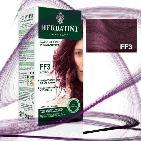 Intensos, brillantes, colores glamour y modernos sin renunciar a la naturalidad de los tintes Herbatint. Los tonos fríos FF ofrecen tonos violeta intenso y ciruela.