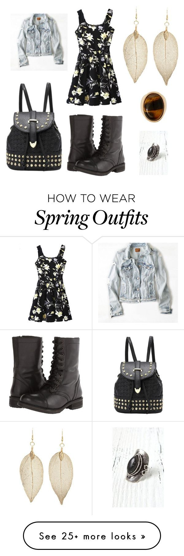 """Aria Montgomery - season 2 episode 2 - outfit 2"" by samantha1-a on Polyvore featuring American Eagle Outfitters, Charlotte Russe, Steve Madden, Warehouse and LA: Hearts"