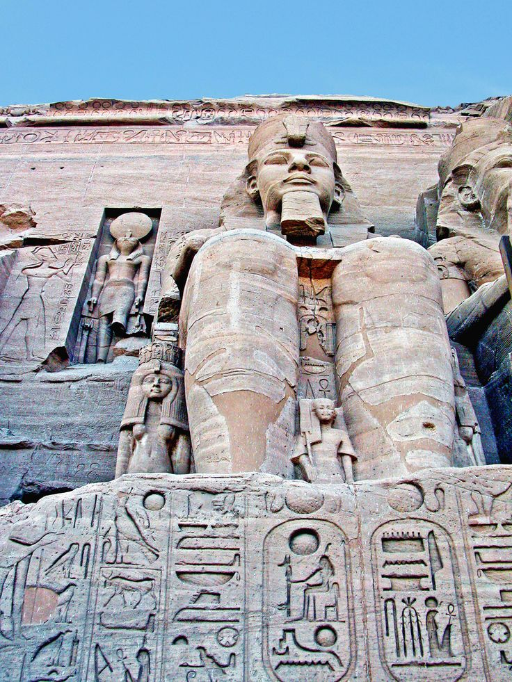 Ancient Egyptian Tarot Deck: Egypt-10C-015 - Rameses II At Abu Simbel