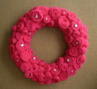 Tulle & Diamond Rose Wreath