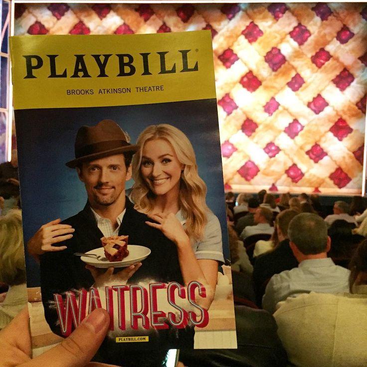 Show #7: Waitress  con Jason Mraz      #Broadway #show #NYC #NewYork #theatre #musical #playbill #todaysbill #travel #trip #stage #Waitress #BetsyWolfe #JasonMraz #SaraBareilles #WaitressMusical