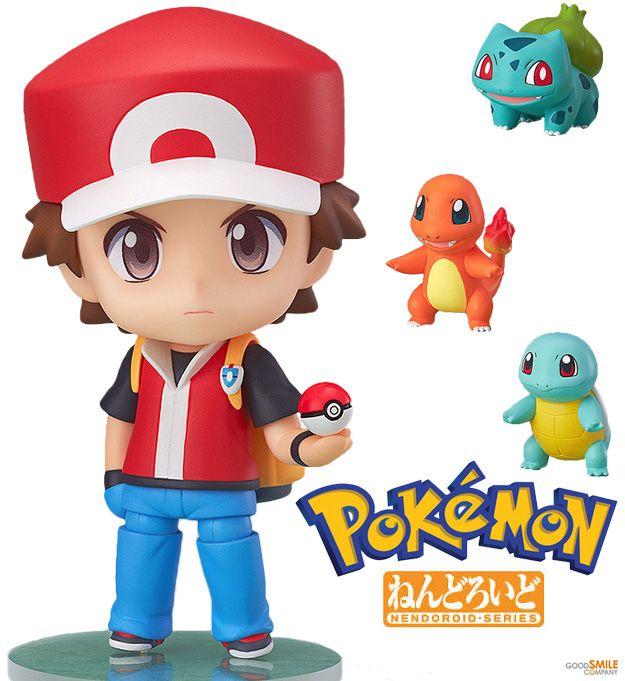 Boneco Nendoroid Treinador de Pokémon Red