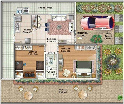 20 Planos de casas chicas - Planos y Fachadas - Todo para el diseño de tu casa Planos y Fachadas – Todo para el diseño de tu casa
