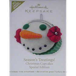 Season's Treatings! Christmas Cupcakes Ornament 2012 Special Edition 2012 Limited Quantity Hallmark Keepsake Ornament