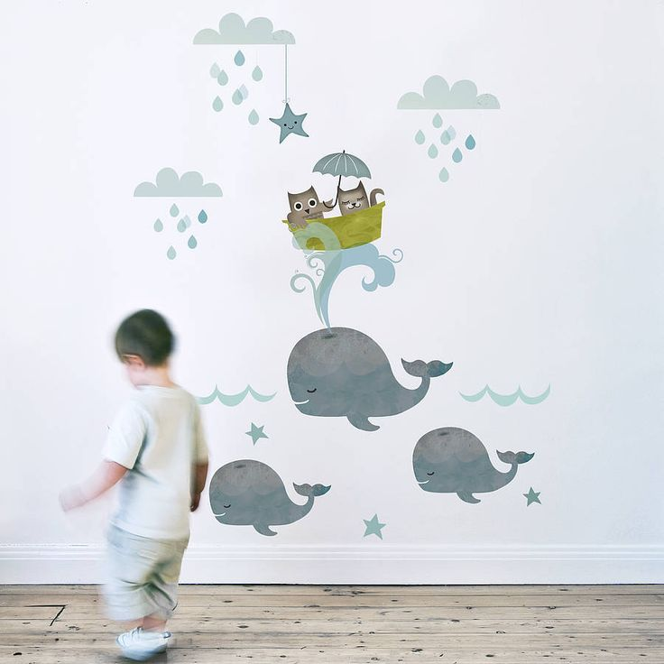 owl and pussycat fabric wall sticker by koko kids | notonthehighstreet.com