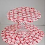 Make a Melted Peppermint Tiered Serving Tray