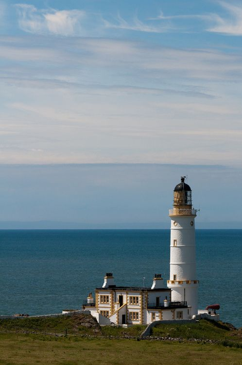 Corsewall Lighthouse Hotel, Scotland - functional lighthouse since 1815; while it continues to light the way  into Loch Ryan, it has been converted into a hotel