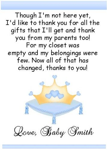 2 our little prince princess baby shower thank you cards ebay