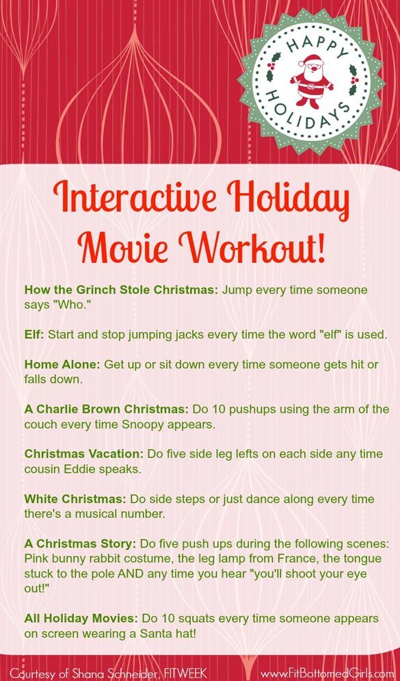 This interactive holiday movie workout will help you burn off those Christmas cookies!