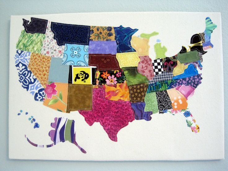 Best Artsy Maps Images On Pinterest Map Art Paper And Art - Us map quilt tutorial