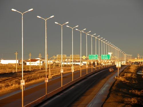 Autopista Rio Gallegos, Santa Cruz, Argentina.
