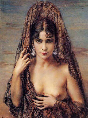 Idolo Eterno by George Owen Wynne Apperley (Eternal Idol), Watercolour