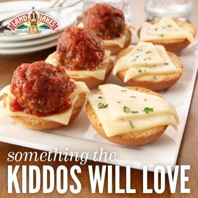 Meatball Sliders: Try this down-sized version of the traditional meatball sub – great for a fun dinner or an appetizer party.