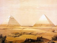 David Roberts painting of ancient Egypt