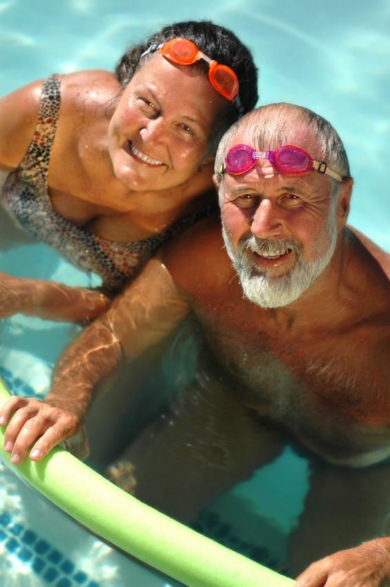 Seniors Health: Exercise, Aerobics; Water, Sitting - Senior Solutions To A Healthier And Happier Older Age: