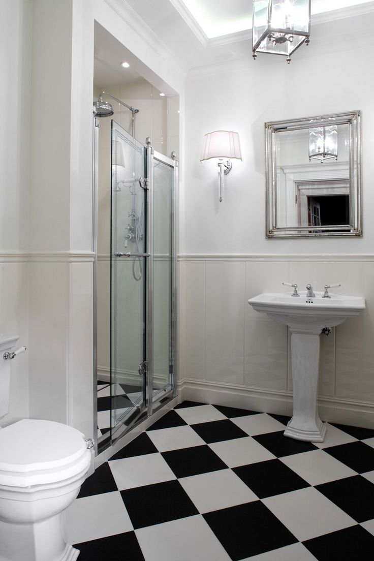 Black and white art deco bathroom - Art Deco Bathroom Google Search