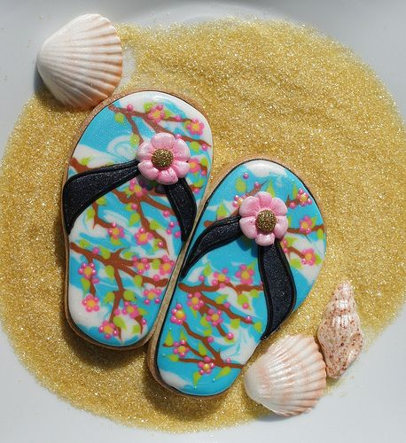 Cherry Blossom Flip Flops - Montreal Confections