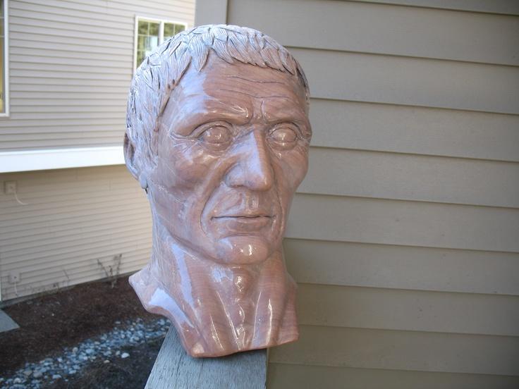 Maple julius caesar wood carving by scott johnson