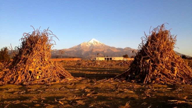 ✓ Bucket List #84: Pico de Orizaba, Mexico's tallest mountain, as viewed from the fields of Tlachichuca.
