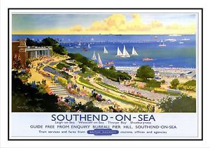 Southend ON SEA Railway Vintage Retro Oldschool OLD Good Price Poster | eBay