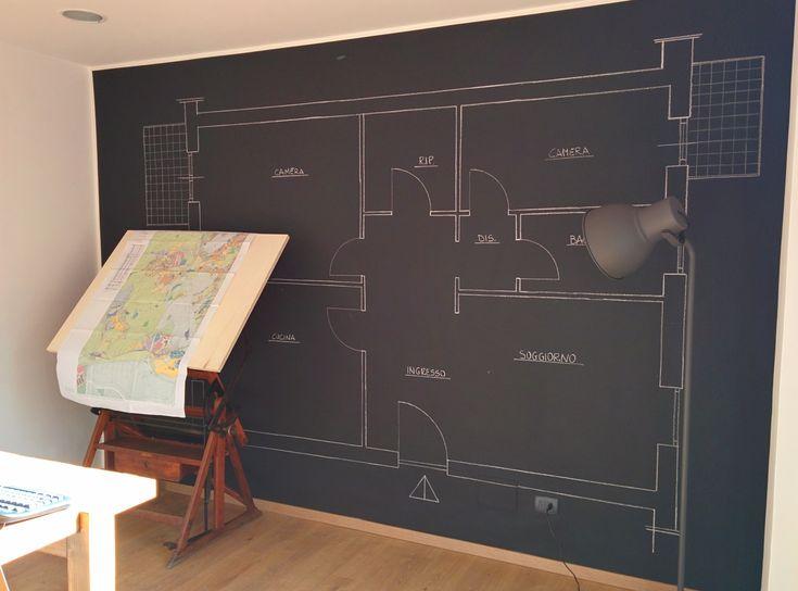 sede RIMA servizi srl #lavori in corso: #progetto realizzato dall'architetto bianchini sulla #PareteLavagna