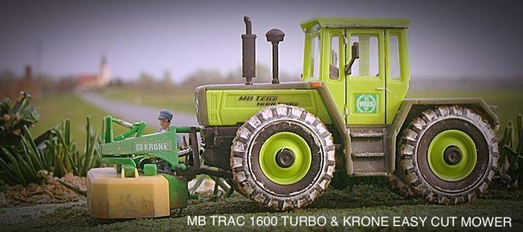 MB Trac 1600 TURBO; model kit from manufacturer Kibri; scale 1:87