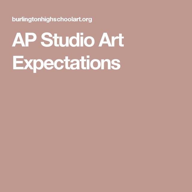 AP Studio Art Expectations
