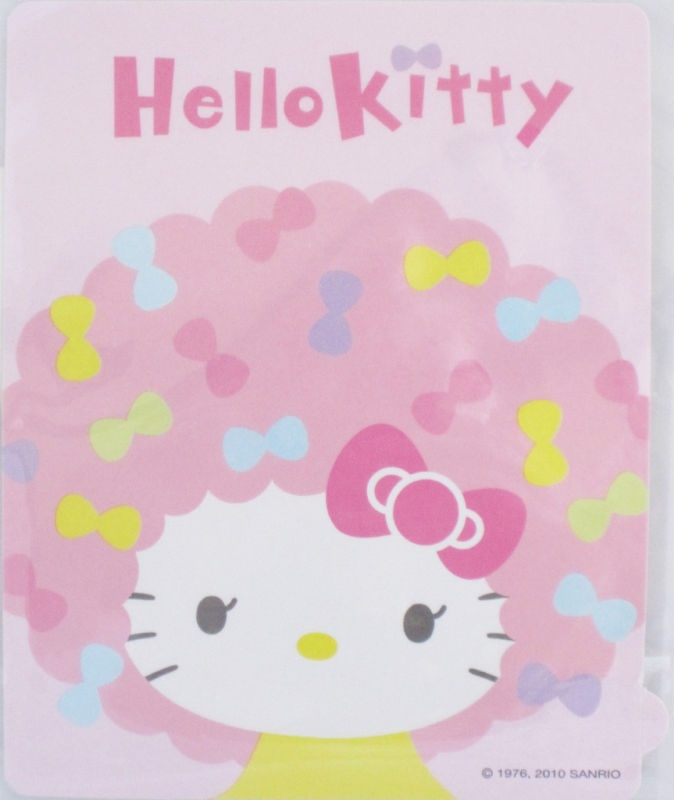 Sanrio Costume Hello Kitty Sticker Pink Afro