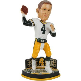 Green Bay Packers Brett Favre Hall of Fame Bobblehead