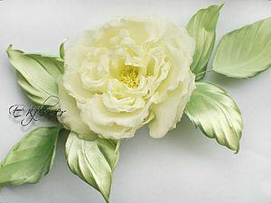Видео мастер-класс по изготовлению шелковой розы «Бланш». Часть 1: выкраивание и покраска | Ярмарка Мастеров - ручная работа, handmade