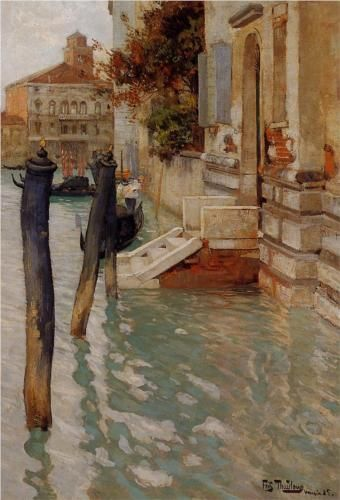 On the Grand Canal, Venice, Frits Thaulow