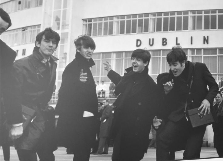 The Beatles arriving into Dublin Airport
