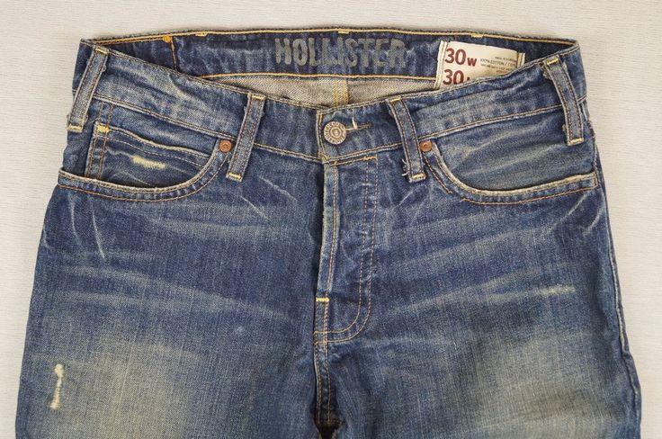 Men's HOLLISTER CALIFORNIA Vintage Jeans Trousers Size W30 L30 Blue Cotton