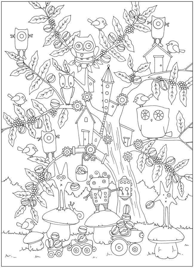 welcome to dover publications creative haven curious creatures coloring book