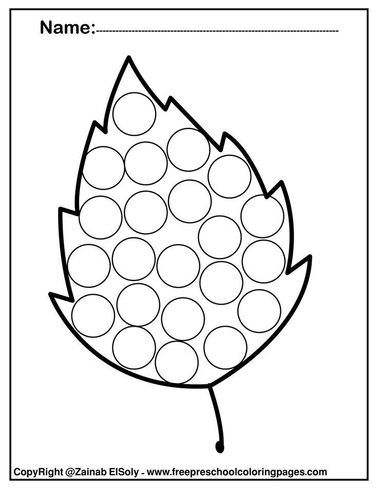 free autumn leaves fall do a dot marker coloring pages ...