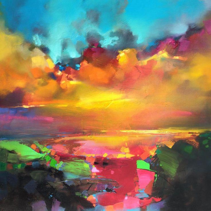 Consonance And Disonance 90cm oil painting by Scott Naismith Vermilion cumulous