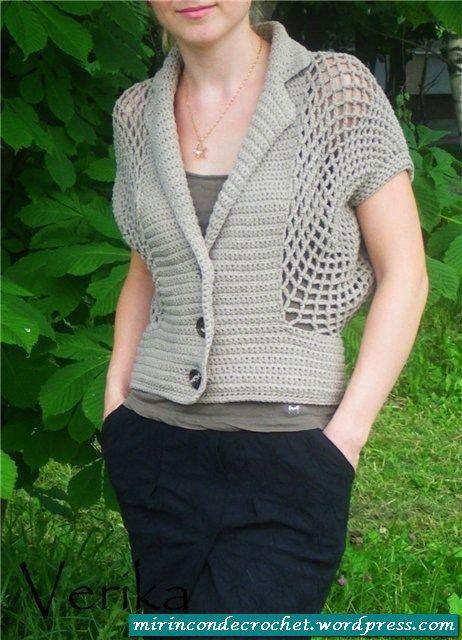 Crochet kimono sweater with diagram