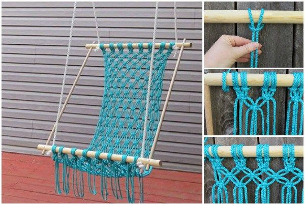 Voilà Comment Fabriquer Vous-Même Une Jolie Chaise Hamac En Macramé !
