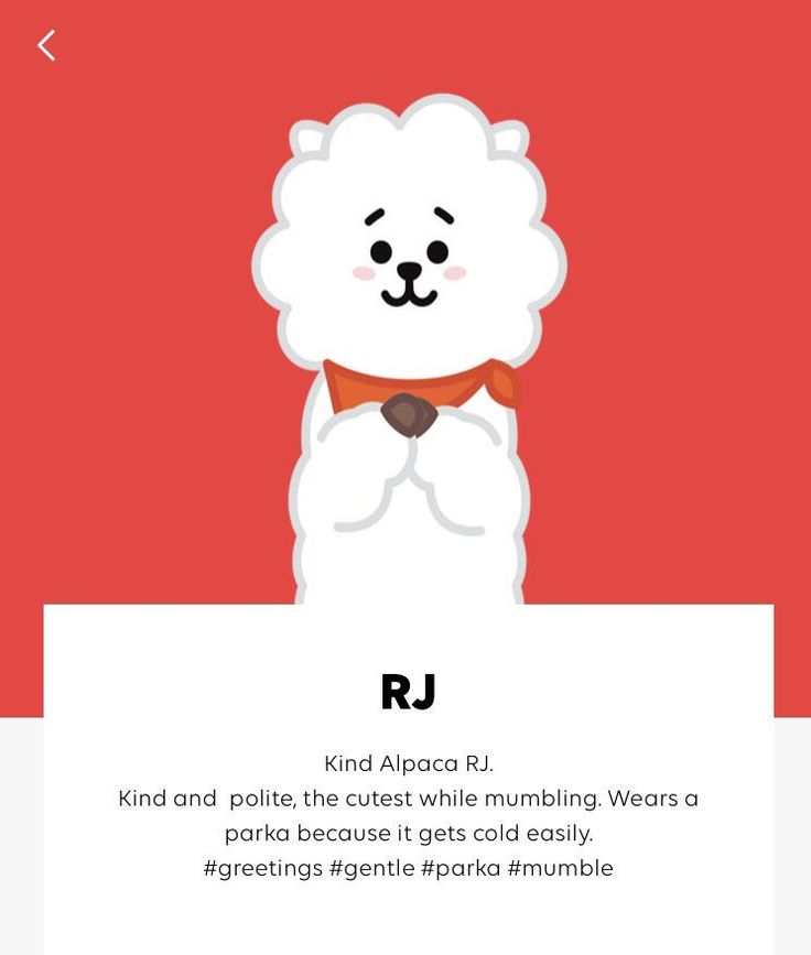 Character Profile of #RJ #BT21 | BT21 (BTS UNIVERSTAR) in ...