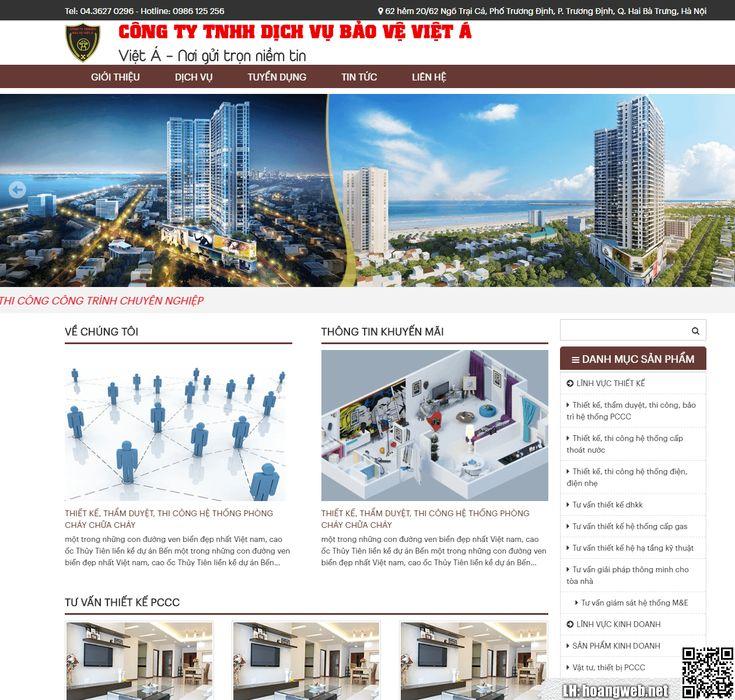 Mẫu web dịch vụ bảo vệ thumbnail