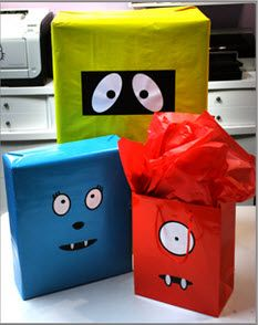 @Stephanie Willbanks yo gabba gabba gift wrap. Might do this for Cavin's Christmas Gift