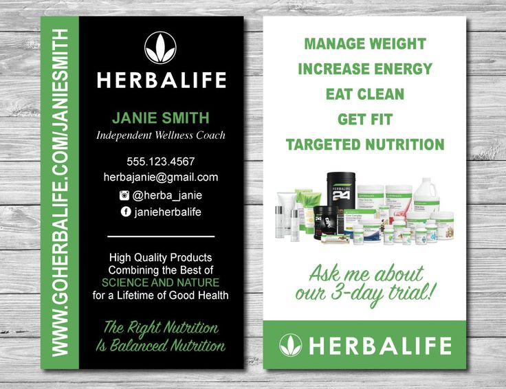 28 Best Herbalife Images On Pinterest Etsy Business Cards And
