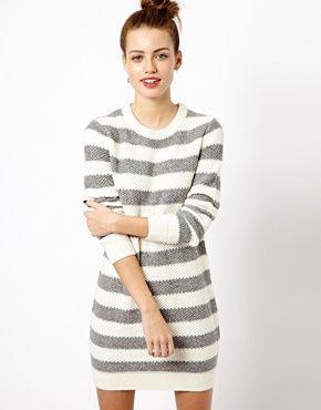 New Look Stripe Jumper Dress